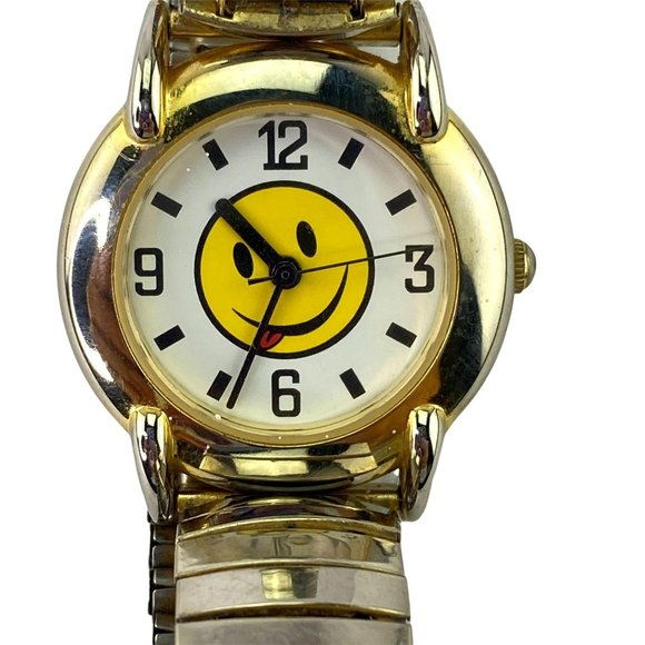 Vintage Watch Smiley Face with Tongue Sticking Out